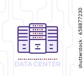 data center  server room vector ... | Shutterstock .eps vector #658877230