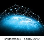 best internet concept of global ... | Shutterstock . vector #658878040