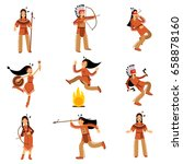 native american indians... | Shutterstock .eps vector #658878160