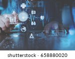 medical technology concept... | Shutterstock . vector #658880020