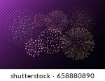 fireworks isolated on purple... | Shutterstock .eps vector #658880890