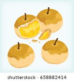 pineapple cookies vector | Shutterstock .eps vector #658882414