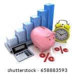 piggy bank concept. the... | Shutterstock . vector #658883593