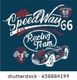 speedway kids racing team ... | Shutterstock .eps vector #658884199