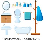 bathroom equipments on white... | Shutterstock .eps vector #658891618