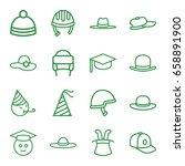 hat icons set. set of 16 hat... | Shutterstock .eps vector #658891900