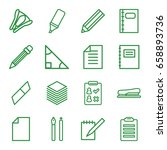 pencil icons set. set of 16... | Shutterstock .eps vector #658893736