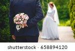 beautiful bouquet of fresh... | Shutterstock . vector #658894120