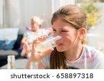young teenage schoolgirl... | Shutterstock . vector #658897318