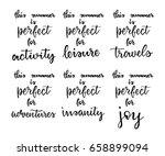 handwritten lettering postcards ... | Shutterstock .eps vector #658899094