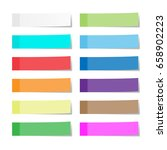 set of paper sheets or sticky... | Shutterstock . vector #658902223