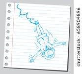 businesswoman bungee jumper | Shutterstock .eps vector #658904896