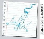 businessman bungee jumper | Shutterstock .eps vector #658904899