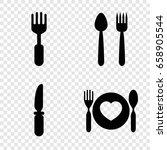 dishware icons set set of 4