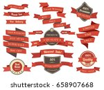 shopping banners and ribbons... | Shutterstock .eps vector #658907668