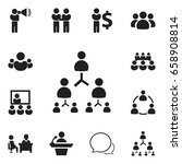set of 12 editable team icons.... | Shutterstock .eps vector #658908814