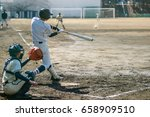 high school baseball player   Shutterstock . vector #658909510