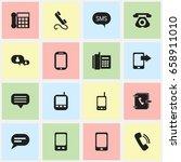 set of 16 editable gadget icons....