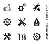set of 9 editable repair icons. ...
