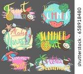 vector hand drawn lettering... | Shutterstock .eps vector #658918480