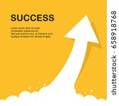 arrow to success on yellow... | Shutterstock .eps vector #658918768