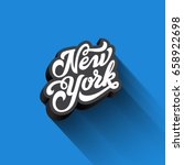 new york text calligraphy... | Shutterstock .eps vector #658922698
