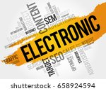 electronic word cloud collage