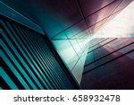 view through modern high rising ... | Shutterstock . vector #658932478