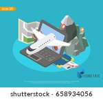 trip to world. travel to world. ... | Shutterstock .eps vector #658934056