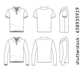 polo shirts with short and long ... | Shutterstock .eps vector #658935919