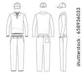 blank vector templates of polo... | Shutterstock .eps vector #658936033