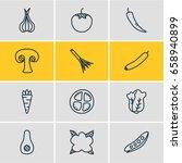 vector illustration of 12... | Shutterstock .eps vector #658940899
