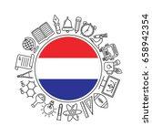 vector dutch school background  ... | Shutterstock .eps vector #658942354