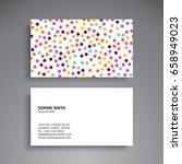 business card. vintage... | Shutterstock .eps vector #658949023