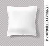 vector blank white pillow with... | Shutterstock .eps vector #658950784