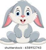 Stock vector cute little bunny cartoon 658952743
