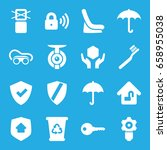 protect icons set. set of 16... | Shutterstock .eps vector #658955038