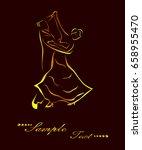 illustration   silhouettes of... | Shutterstock . vector #658955470