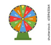 wheel of fortune. colorful... | Shutterstock .eps vector #658965064