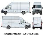 vector van template isolated on ... | Shutterstock .eps vector #658965886