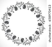vintage black and white round... | Shutterstock .eps vector #658970413