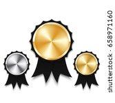 golden  silver and bronze...   Shutterstock .eps vector #658971160