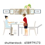 doctor with the patient. | Shutterstock . vector #658979173