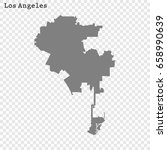 los angeles map. city of the...   Shutterstock .eps vector #658990639