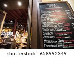 tapas bar in spain. spanish... | Shutterstock . vector #658992349