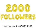 gold alphabet balloons  2000 ... | Shutterstock . vector #658994188