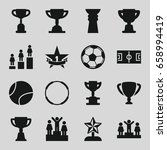 championship icons set. set of... | Shutterstock .eps vector #658994419