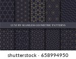 luxury seamless ornamental... | Shutterstock .eps vector #658994950