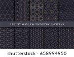 luxury seamless ornamental... | Shutterstock .eps vector #658994950