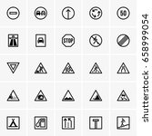 road signs icons | Shutterstock .eps vector #658999054